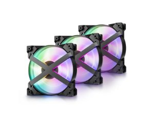 Kit Cooler Deepcool MF 120 GT RGB com 3 unidades - DP-GS-F12-AR-MF120GT-3P