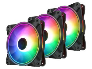 Kit Cooler Deepcool CF 120 Plus RGB com 3 unidades - DP-F12-AR-CF120P-3P