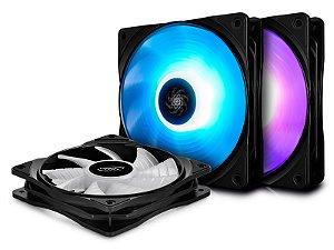 Kit Cooler Deepcool RF 120 RGB com 3 unidades - DP-FRGB-RF120-3C