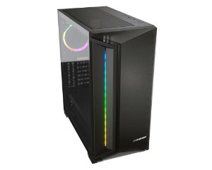 Gabinete Gamer Cougar DarkBlader X7, Mid T, Vidro Temp, RGB, Translucent Black, 1 Fan - 385UM30.0004