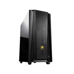 Gabinete Gamer Cougar MX660 Mesh, Black, Mid Tower, 1 Fan, Suporte GPU Vertical
