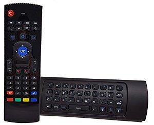 Controle Air Mouse Sem Fio C/ Teclado Para Tv Box E Smart Tv