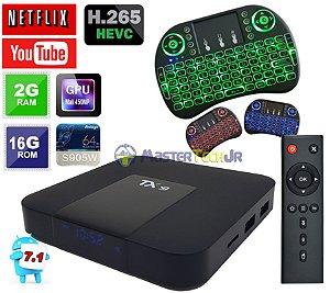 Tv Box Tx9 4k Quadcore 2gb/16gb Android 7.1 +Teclado Led