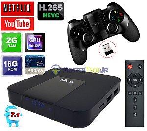 Tv Box Tx9 4k Quadcore 2gb/16gb Android 7.1 + Controle Ipega 9076