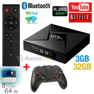 Tv Box Ut9 Pro 4k Octacore 3gb/32gb Bluetooth Android 7.1 + ipega 9068