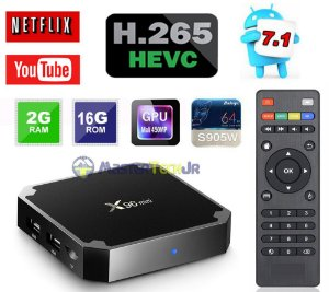 Tv Box X96 Mini 4k Quadcore 2gb/16gb Android 7.1 Amlog S905w