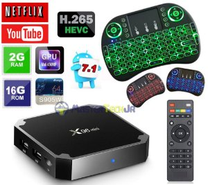 Tv Box X96 Mini 4k 2gb/16gb Android 7.1 + Mini Teclado Led