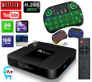 Tv Box Tx3 Mini 4k Quadcore 2gb/16gb Andr. 7.1 + Teclado Led