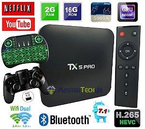 Tv Box Tx5 Pro 4k Quadcore 2gb/16gb Bluetooth + Ipega 9076 + Teclado Led