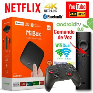 Xiaomi Mi Box Android Tv 8.0 G. Cast Netflix 4k + Ipega 9068