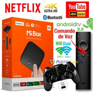 Xiaomi Mi Box Android Tv 8.0 Google Cast, Netflix 4k + Ipega 9076