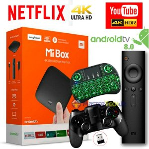 Xiaomi Mi Box Android Tv 8.0 Netflix 4k +ipega 9076 +tec Led