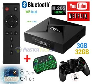 Tv Box TX9 Pro 4k 3gb/32gb Bluetooth Android 7.1 + Ipega 9076 + Teclado LED