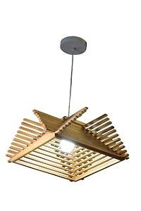 Pendente Ajustável Luminária Treviso Capri Madeira MD96842A1