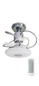 Ventilador de Teto Treviso Monaco Cromado C/ Controle Remoto e LED 18W Bivolt