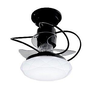 Ventilador de Teto Treviso Cancun Preto LED18W Bivolt
