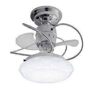Ventilador de Teto Treviso Cancun Cromado  LED18W Bivolt