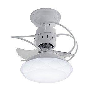 Ventilador de Teto Treviso Cancun Branco LED 18W Bivolt