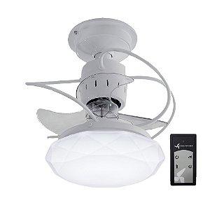 Ventilador de Teto Treviso Cancun Branco C/ Controle Remoto e LED 18W