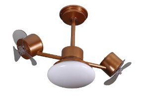 Ventilador de Teto Treviso Infinit Plus Cobre C/ LED 18W
