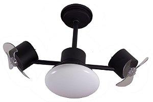 Ventilador de Teto Treviso Infinit Plus Preto C/ LED 18W