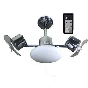 Ventilador de Teto Treviso Infinit Plus Cromado C/ Controle Remoto e LED18W
