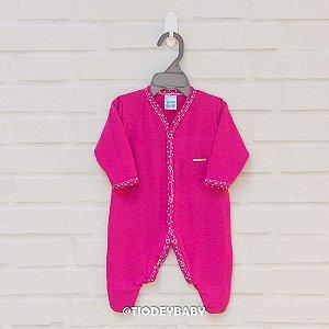 Macacão Longo Pink Corações