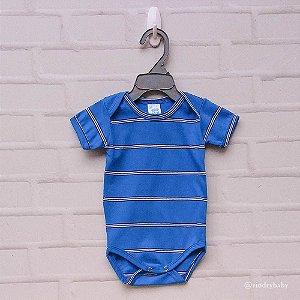 Body Malha Listras Azul
