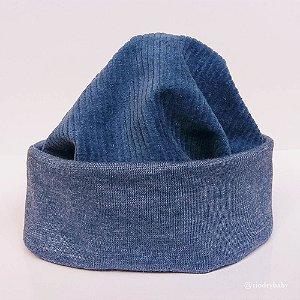 Gorro Touca Cotelê Azul