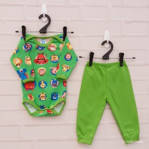Conjunto Monstrinhos Green