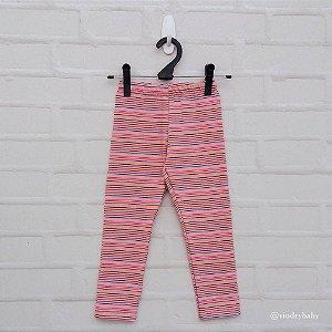 Legging Infantil Listrada Rosa Chiclete