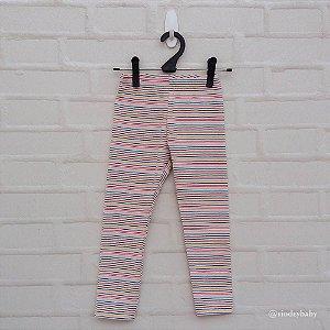 Legging Infantil Listrada Creme