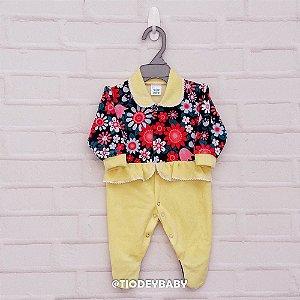 Macacão Plush Amarelo Floral II