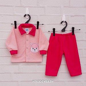 Conjunto Peluciado Rosa Pink Lhama