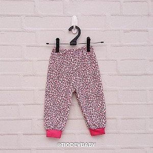 Calça Plush Pink Oncinha
