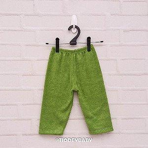 Calça Bucklê  Peluciada Verde Limão