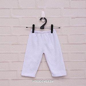 Calça Bucklê  Peluciada Branca