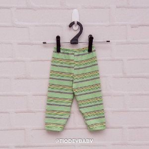 Calça Mijão Listras Verde