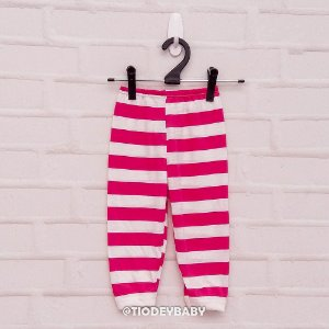 Calça Mijão Listras Pink