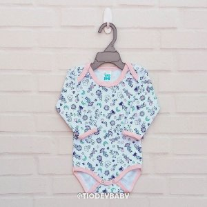 Body Suedine Flamingo Manga Longa