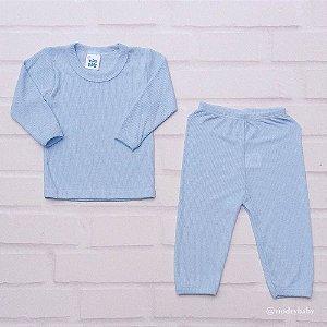 Conjunto Pijama Poliviscose Azul