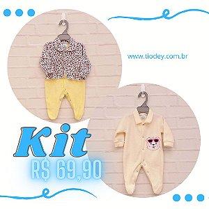 Kit 2 Macacões Oncinha + Pérola Cachorrinha
