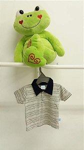 Camisa Gola Polo Listras