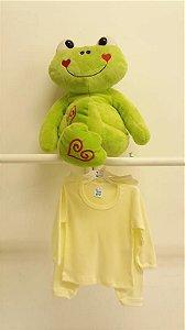 Conjunto Blusa + Calça Termal Amarelo