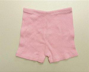 Shorts Canelado Rosa