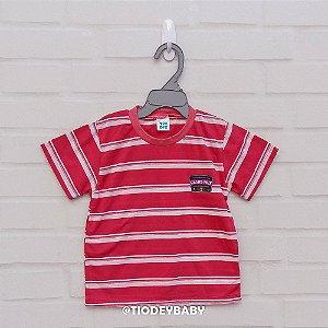 Camiseta Malha Manga Curta Listrada Vermelho Grand Prix