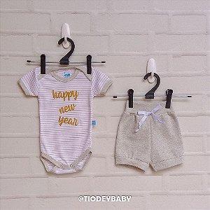 Conjunto Body Réveillon Bebê