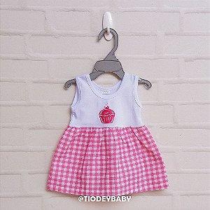 Vestidinho Xadrez Rosa