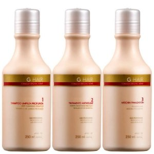 INOAR G.HAIR PROGRESSIVA ALEMÃ 3X250ML