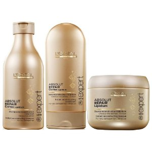 LORÉAL KIT ABSOLUT REPAIR CORTEX LIPIDIUM - 3 PRODUTOS